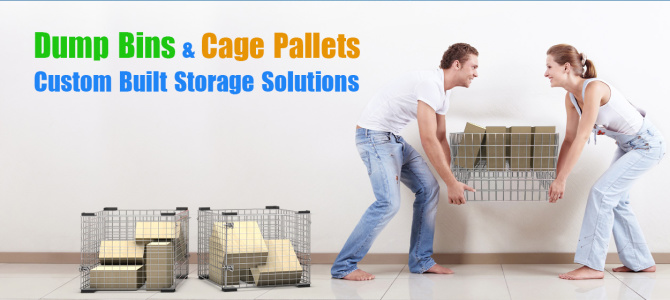 Dump Bins & Cage Pallets – Custom Built Storage Solutions