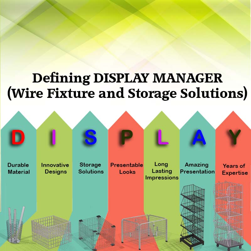 Defining DISPLAY MANAGER- Wire Fixture and Storage Solutions.