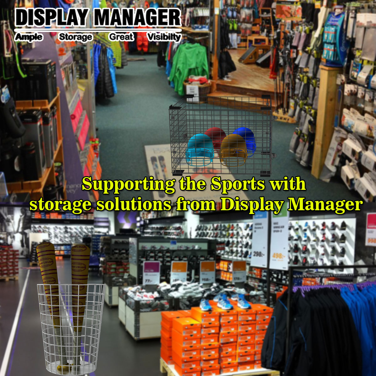 Supporting the Sports with storage solutions from Display Manager